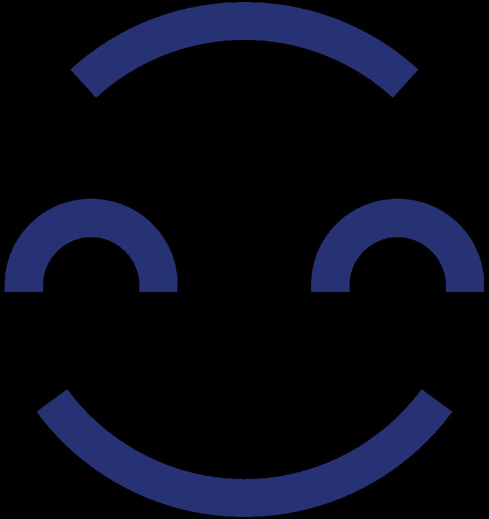Kangasala hymyilevä ikoni - sinen