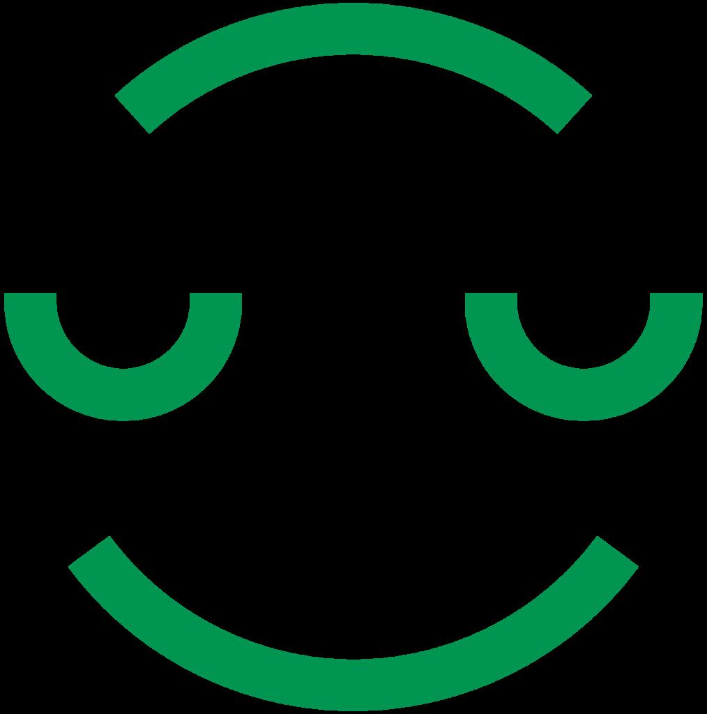 Kangasala hymyilevä ikoni - vihreä