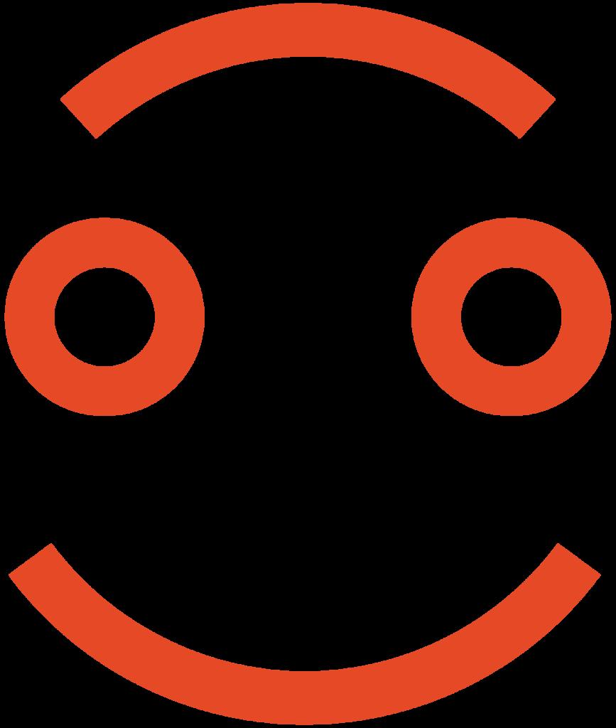Kangasala hymyilevä ikoni - oranssi